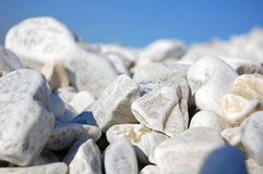 Pebble sea beach detail Royalty Free Stock Photo