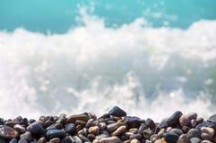Pebble on the seashore. royalty free stock photo