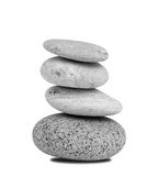 Pebble stack. Stack of pebbles on white background Royalty Free Stock Image