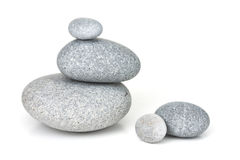 Pebble stack. Pebble stones stack in balance on white Stock Image