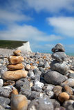Pebble stack on beach Stock Images