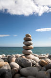 Pebble stack on beach Royalty Free Stock Photo