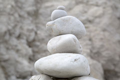 Pebble Stack in Lulworth Cove Beach, Dorset Royalty Free Stock Photography