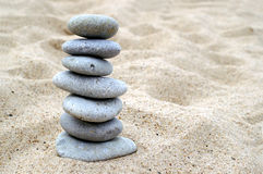 Pebble stack on the seashore Royalty Free Stock Photography