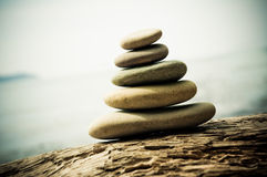 Pebble stack, shallow focus Stock Image