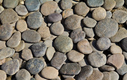 Pebble stone background Stock Photo