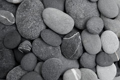 Pebble stone background. Flat lay. stock photography