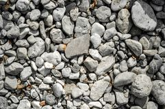 Pebble stone closeup on the shore Royalty Free Stock Photo