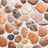 Pebble stone floor tile texture Royalty Free Stock Photos