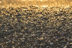 Pebble Stone on Ground Stock Images