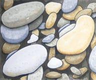 Pebble stone hand drawn background. Pebble stone texture hand drawn square background royalty free illustration