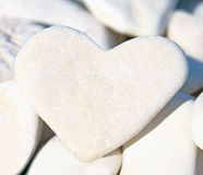 Pebble stone heart