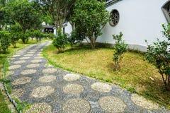 Pebble stone path Stock Photos