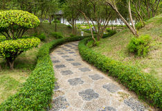 Pebble stone path Stock Photos