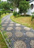 Pebble stone path Royalty Free Stock Images