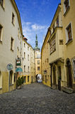 Pebble Stone Street, Olomouc Royalty Free Stock Photos