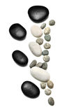 Pebble stone or Zen stone. On cement floor royalty free stock photography