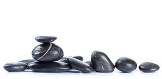 Pebble stones. Isolated on white background Stock Photography