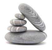 Pebble stones. Isolated on white Royalty Free Stock Photo