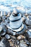 Pebble stones on beach Royalty Free Stock Photo
