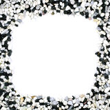 Pebble stones frame Royalty Free Stock Photography
