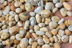 Pebble stones with natural pattern Royalty Free Stock Photos