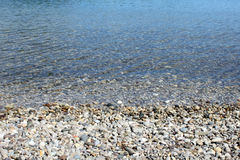 Pebble stones in the sea. Pebble stones in the transparent water, the Mediterranean Sea Royalty Free Stock Images