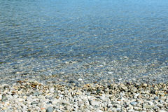 Pebble stones in the sea. Pebble stones in the transparent water, the Mediterranean Sea Royalty Free Stock Photography