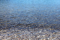 Pebble stones in the sea Royalty Free Stock Images