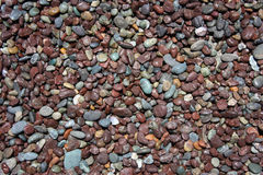 Pebble stones texture. Brown and blue pebble stones texture Royalty Free Stock Photos