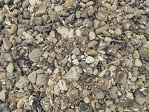 Pebble stones texture. Useful for design as natural background Royalty Free Stock Photography