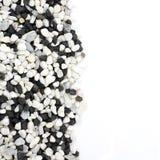 Pebble stones texture. On white background Stock Photo