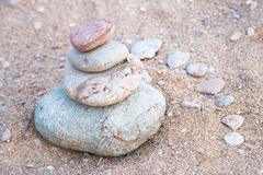 Pebble stones tower Royalty Free Stock Photos