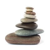 Pebble stones tower isolated. Stock Image