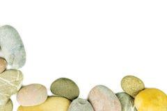 Pebble stones on white background Stock Images