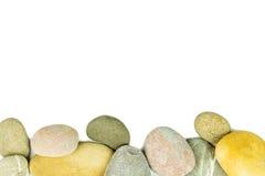 Pebble stones on white background Stock Photography