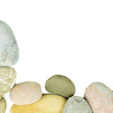 Pebble stones on white background Stock Photos