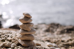 Pebble tower Royalty Free Stock Photo