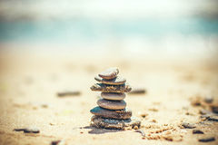 Pebble tower Royalty Free Stock Image