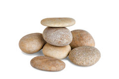 Pebble tower on a white background Royalty Free Stock Photos