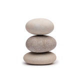 Pebble tower on a white background Royalty Free Stock Photography