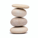 Pebble tower on a white background Stock Image