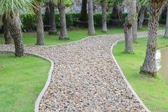 The pebble walkway Stock Image