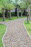 The pebble walkway Royalty Free Stock Images