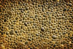 Pebble wall texture Royalty Free Stock Photography