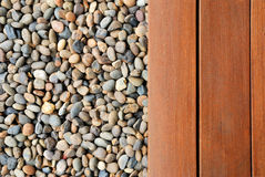 Pebble and wood Stock Photography