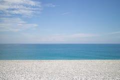 pebbled пляж Стоковые Изображения