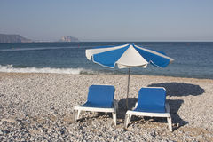 Pebbled Beach on Costa Blanca Stock Photos
