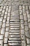 Pebbled London Street Stock Photos