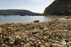 pebbled strand Arkivfoto